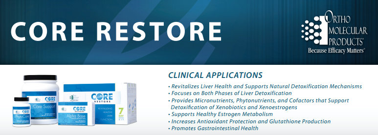 Core restore Kit by Ortho Molecular Products information