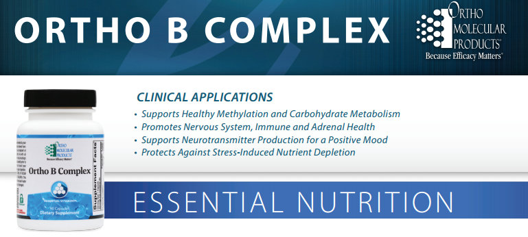 Ortho B Complex by Ortho Molecular Products product data sheet