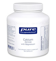 Calcium (MCHA) w/ Magnesium by Pure Encapsulations 180 Capsules