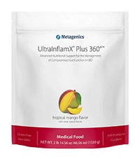 UltraInflamX  PLUS 360 by Metagenics (30 servings) Pineapple-Banana or Tropical Mango flavor