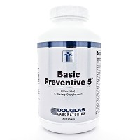 Basic Preventive 5 (Iron Free) by Douglas Labs 180 Tablets