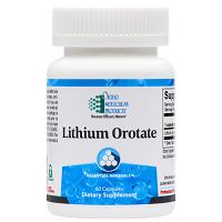 Lithium Orotate by Ortho Molecular Products 60 CT