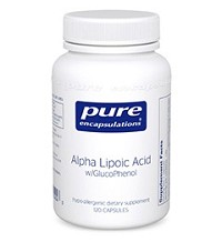Alpha Lipoic Acid w/GlucoPhenol by Pure Encapsulations 120 Capsules
