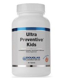 Ultra Preventive Kids (Chewable) Orange or Grape Flavor by Douglas Labs 60 Chewable Tablets