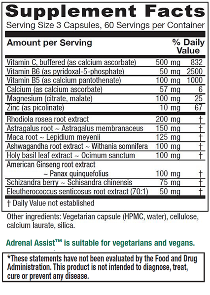 Adrenal Assist by Vitanica replaces Ortho Molecular Adapten-All