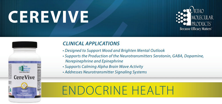 CereVive by Ortho Molecular Products information sheet