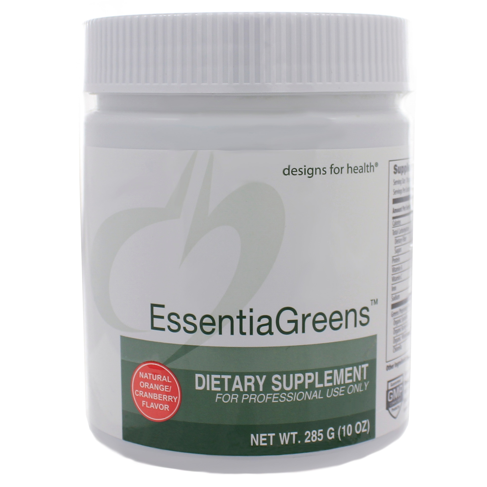 EssentiaGreens by designs for Health cheaper than Deeper Greens from Ortho Molecular