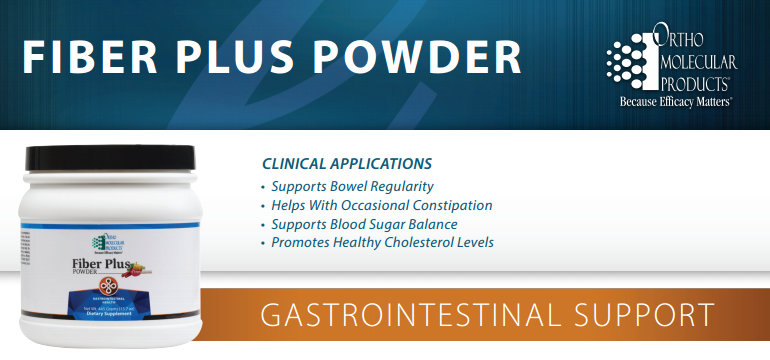 Fiber Plus Powder by Ortho Molecular Products - data sheet