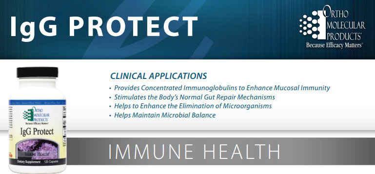igG Protect product data sheet by Ortho Molecular Products