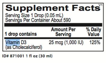 Liquid Vitamin D3 Ortho Molecular products