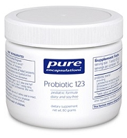 Probiotic 123 Dairy Free by Pure Encapsulations 80g