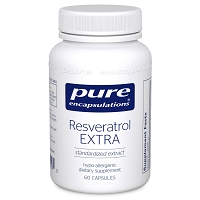Resveratrol Extra by Pure Encapsulations 60 or 120 Capsules