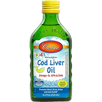 Carlson Kids Cod Liver Oil Lemon by Carlson Labs - 250 ml