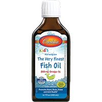 Carlson for Kids The Very Finest Fish Oil by Carlson Labs - Lemon - 200 ml
