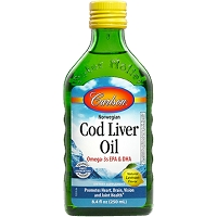 Cod Liver Oil by Carlson Labs - Lemon - 8.4 fl oz