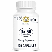 D3-50 by Bio-Tech - 100 Capsules