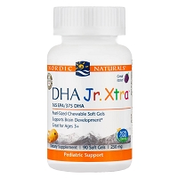 DHA Junior Xtra - Raspberry by Nordic Naturals - 90 Softgels