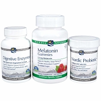 Digestive Enzymes, Nordic Probiotic, & Melatonin Gummies Kit by Nordic Naturals