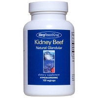 Kidney (Beef) Natural Glandular by Allergy Research Group - 100 vegetarian capsules
