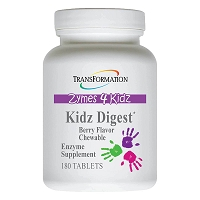 Kidz Digest Chewable by Transformation Enzymes - 180 Tablets