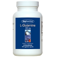 L-Glutamine 500 mg by Allergy Research Group - 100 vegetarian capsules