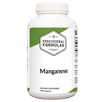 Manganese by Professional Formulas - 180 Capsules