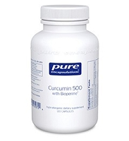 Curcumin 500 with Bioperine by Pure Encapsulations 60 or 120 Capsules