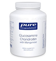 Glucosamine Chondroitin w/ Manganese by Pure Encapsulations 120 or 360 Capsules