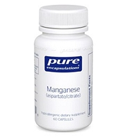 Manganese (aspartate/citrate) by Pure Encapsulations 60 Capsules