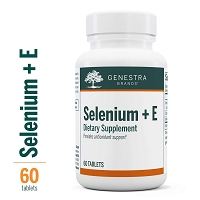 Selenium + E by Genestra 60 Tablets