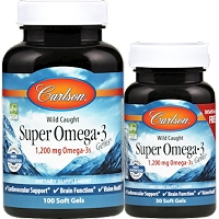 Super Omega-3 Gems 1200 mg by Carlson Labs - 130 Softgels