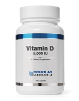 Vitamin D 5,000 i.u. by Douglas Labs - 100 Tablets