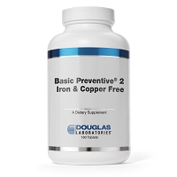 Basic Preventive 2 Iron and Copper Free By Douglas Labs 180 Tablets