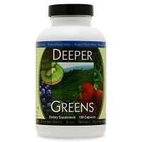 Deeper Greens by Ortho Molecular Products 180 Capsules