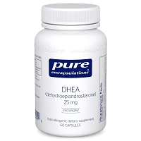DHEA 25 mg by Pure Encapsulations 60 or 180 Capsules