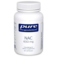 NAC (n-acetyl-l-cysteine) 600 mg by Pure Encapsulations 90