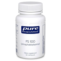 PS 100 (phosphatidylserine) by Pure Encapsulations 60 or 120 Capsules
