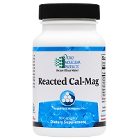 Reacted Cal-Mag by Ortho Molecular Products 90 or 180 Capsules