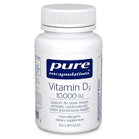 Vitamin D3 10,000 i.u. by Pure Encapsulations 60 or 120 Capsules