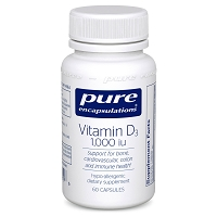 Vitamin D3 1000 I.U. by Pure Encapsulations 60 Capsules