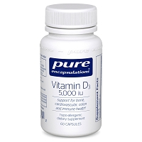 Vitamin D3 5000 i.u. by Pure Encapsulations 60, 120 or 250 Capsules