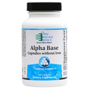 Alpha Base Capsules without Iron by Ortho Molecular Products 120 or 240