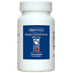 Acetyl-Glutathione 300 mg by Allergy Research Group - 60 scored tablets
