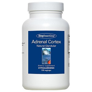Adrenal Cortex Natural Glandular 100 mg by Allergy Research Group - 100 vegetarian capsules