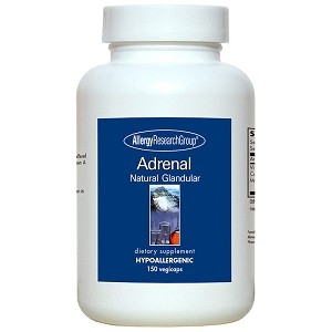 Adrenal Natural Glandular by Allergy Research Group - 150 vegetarian capsules