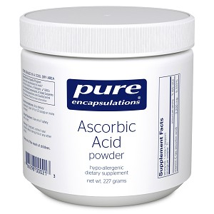 Pure Ascorbic Acid powder by Pure Encapsulations 227g
