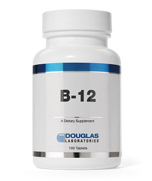 B-12 500 mcg by Douglas Labs - 100 Tablets
