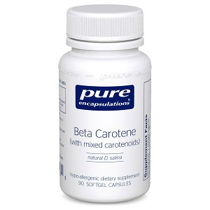 Beta Carotene w/ mixed carotenoids by Pure Encapsulations 90 Soft Gels