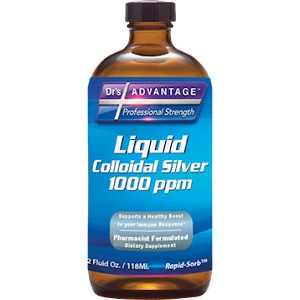 Liquid Colloidal Silver 1000 ppm by Dr's Advantage - 2 oz.