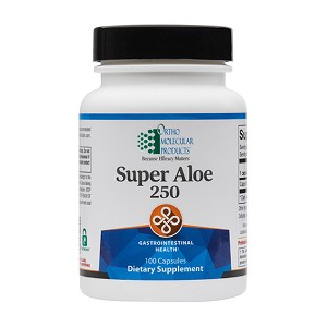 Super Aloe 250 by Ortho Molecular Products 100 Capsules